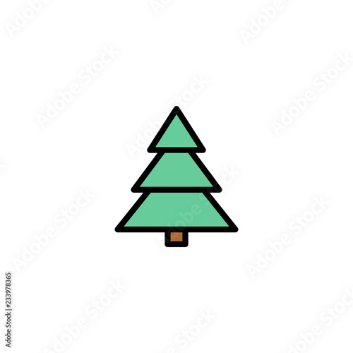 Christmas Tree Icon.Outline Christmas Tree Icon Isolated On White Background