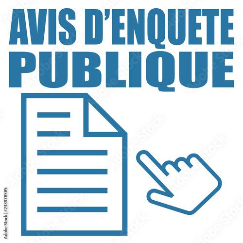 Photo Logo avis d'enquête publique.