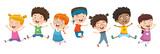 Vector Illustration Of Children Playing