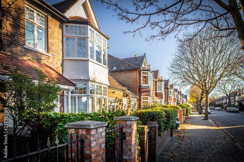 Fotografie, Obraz London suburb of Chiswick in the autumn time, UK