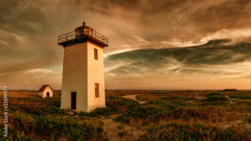 Foto auf AluDibond Leuchtturm Wood End lighthouse in Provincetown, Massachusetts, USA.