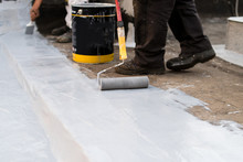 Paint Roller, Insulating The Roof Of The Building