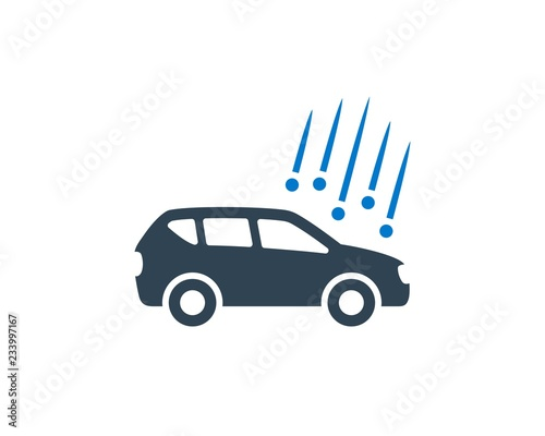 Fotografie, Obraz  Hail Damage Car Clean Design