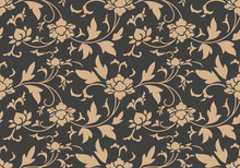 Vector Damask Seamless Retro P...