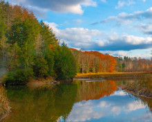 Fall At Buttermilk Falls State...