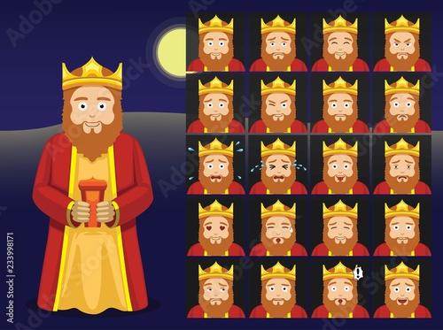 Three Kings Gaspar Cartoon Emoticons Vector Illustration Canvas Print