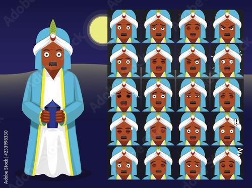 Fotografia Three Kings Baltasar Cartoon Emoticons Vector Illustration