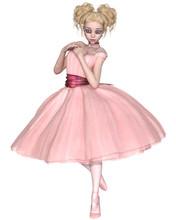 Cute Blonde Ballerina With Big...