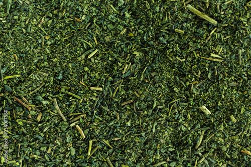 Heap green tea taxture full frame.