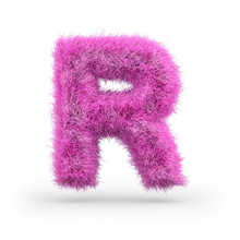 Uppercase Fluffy And Furry Font. 3D