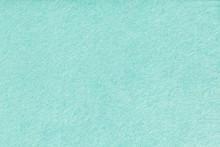 Light Turquoise Matt Suede Fabric Closeup. Velvet Texture Of Felt.