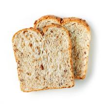 Bread Slices On White Background