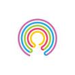 rainbow linear logo vector