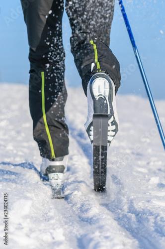 Skilanglauf im klassischen Stil