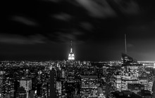 Looking Towards The Empire State Building By Night