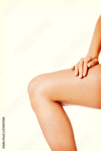 Fotografie, Obraz  Beautiful slim woman body isolated on white background.
