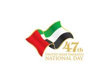 UAE 47th National Day Logo Wit...