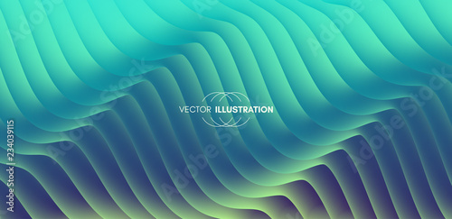 Photo  Abstract wavy background for banner, flyer and poster