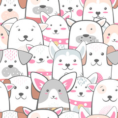 Animals, dog - cute, funny pattern.