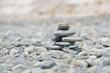 Gestapelte Natursteine