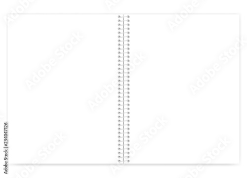 Cuadros en Lienzo Open white blank wire bound letter size notebook with light metal spiral