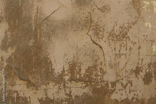 Foto auf AluDibond Alte schmutzig texturierte wand Old plaster walls with remnants of brown paint. Grunge texture.