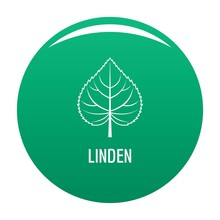 Linden Leaf Icon. Simple Illustration Of Linden Leaf Vector Icon For Any Design Green