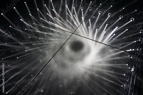 Reflection Floor Mirror Spotlights Connecting Rays Of Light
