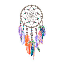 Colorful Dreamcatcher And Feat...