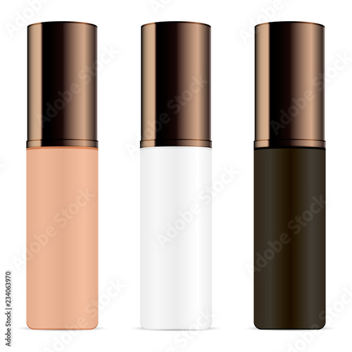 Set Of Cosmetic Bottles For Primer Base Highlighter