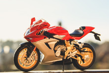 Models Of Copies Of Motorcycles MV Agusta And Kawasaki Ninja ZX 10 R. Toys For Children And Adults.