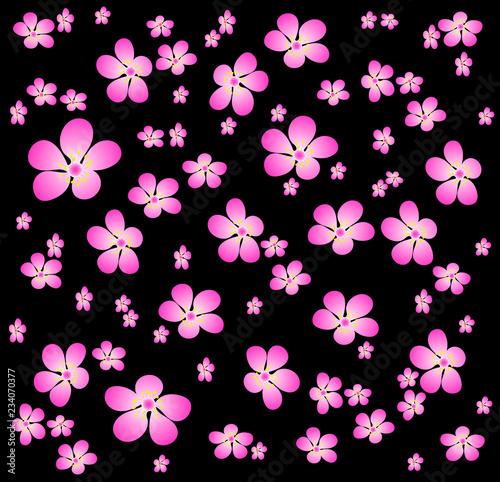 black cherry blossom wallpaper