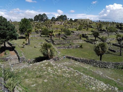 Foto op Aluminium Khaki Zona arqueológica de Cantona, Mexico