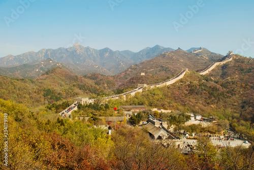 Fotobehang Chinese Muur Great wall near Bejing in sunny day. .