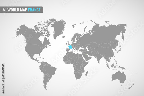 Country Map Of France.World Map With The Identication Of France Map Of France Political