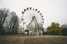 Abandoned Ferris Wheel And Sov...