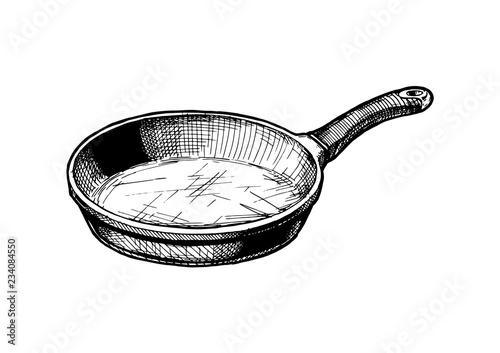 Fotomural illustration of Frying pan
