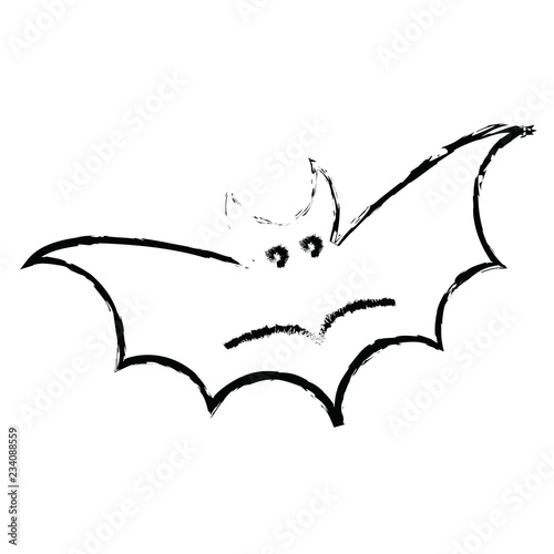 Vector Bat Icon In Creative Design With Elements For Mobile And Web Lictions Modern Trend Infographic Logo Pictogram