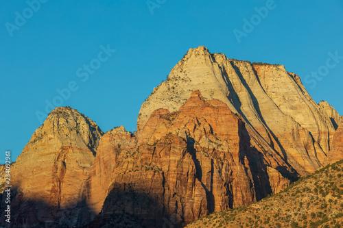 Foto op Plexiglas Blauw Scenic Zion National Park Utah Landscape