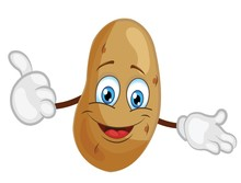 Cute Potato Character. Cartoon Vector Illustration