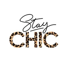 Stay Chic Fashion Print With L...