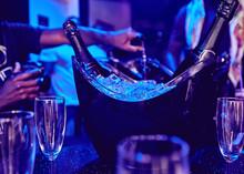 Champagne Party Concept Bottle...