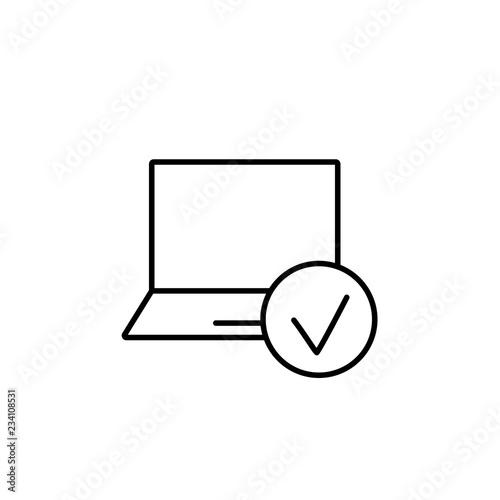 Fotografie, Obraz  ssl network privacy symbol line black icon on white background