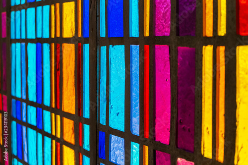 Fototapeta multicolored stained glass window