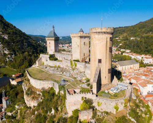 Obraz Medieval fortress Chateau de Foix - fototapety do salonu