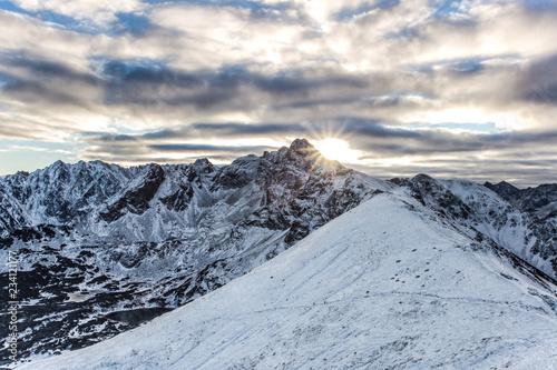 Zdjęcie XXL Świt w Tatrach