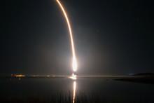 Fire Trail Of A Rocket Taking ...