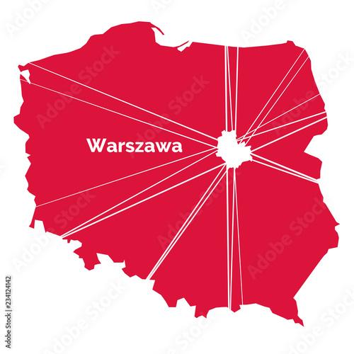 Fototapeta premium Warszawa - stolica Polski