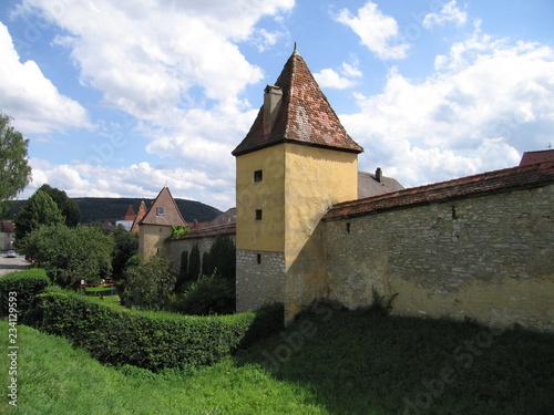 Foto  Historische Stadtmauer in Greding
