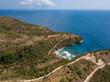 Aerial view to ocean cape at Atuh beach on Nusa Penida island, Indonesia